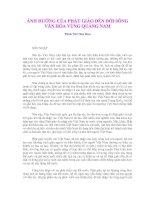 ẢNH HƯỞNG CỦA PHẬT GIÁO ĐẾN ĐỜI SỐNG VĂN HÓA VÙNG QUẢNG NAM
