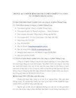 Quá trình hình thành và phát triển của công ty cổ phần Thăng Long