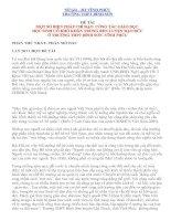 BIỆN PHÁP CHỈ ĐẠO  CÔNG TÁC GIÁO DỤC  HỌC SINH CÓ KHÓ KHĂN TRONG RÈN LUYỆN ĐẠO ĐỨC Ở TRƯỜNG THPT BÌNH SƠN -VĨNH PHÚC