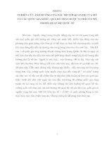 NGHIÊN CỨU ẢNH HƯỞNG CỦA DẦU MỎ TỚI QUAN HỆ CỦA MỸ VÀ CÁC QUỐC GIA KHÁC, QUA ĐÓ THẤY ĐƯỢC VỊ TRÍ CỦA MỸ TRONG QUAN HỆ QUỐC TẾ
