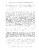 ẢNH HƯỞNG CỦA CÁC YẾU TỐ THI PHÁP ĐỒNG DAO ĐỐI VỚI THƠ TRẦN ĐĂNG KHOA TUỔI ẤU THƠ