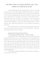 TÌM HIỂU KINH TẾ NGOẠI THƯƠNG VIỆT NAM TRONG CÁC THẾ KỈ XI -XVIII