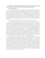 ĐÁNH GIÁ TÁC ĐỘNG, HIỆU QUẢ CỦA CÁC CHÍNH SÁCH KÍCH THÍCH KINH TẾ VÀ BẢO ĐẢM AN SINH XÃ HỘI