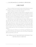 THỰC TRẠNG ĐẠO ĐỨC SINH VIÊN TRONG NỀN KINH TẾ THỊ TRƯỜNG Ở NƯỚC TA HIỆN NAY