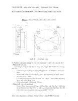 Bài thuyết minh đồ án công nghệ chế tạo máy