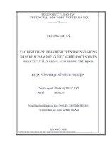 XÁC ĐỊNH THÀNH PHẦN BỆNH TRÊN HẠT NGÔ GIỐNG  NHẬP KHẨU NĂM 2007 VÀ THỬNGHIỆM MỘT SỐ BIỆN  PHÁP XỬ LÝ HẠT GIỐNG NGÔ PHÒNG TRỪ BỆNH