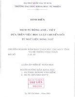 dịch tự động Anh-Việt dựa trên việc học luật chuyển đổi từ ngữ liệu song ngữ 0