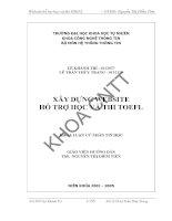 XÂY DỰNG WEBSITE  HỖ TRỢ HỌC VÀ THI TOEFL