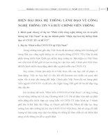 HIỆN ĐẠI HOÁ HỆ THỐNG LÃNH ĐẠO VỀ CÔNG NGHỆ THÔNG TIN VÀ BƯU CHÍNH VIỄN THÔNG