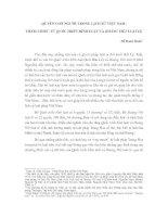 QUYỀN CON NGƯỜI TRONG LỊCH SỬ VIỆT NAM: THAM CHIẾU TỪ QUỐC TRIỀU HÌNH LUẬT VÀ HOÀNG VIỆT LUẬT LỆ