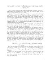 sự ra đời và phát triển của giai cấp công nhân Việt Nam