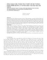 ỨNG DỤNG UML PHÂN TÍCH THIẾT KẾ HỆ THỐNG PHẦN MỀM QUẢN LÝ TUYỂN SINH TẠI ĐẠI HỌC ĐÀ NẴNG