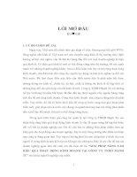 GIẢI PHÁP NÂNG CAO HIỆU QUẢ HOẠT ĐỘNG KINH DOANH TẠI CÔNG TY TNHH MẠNH TÚ