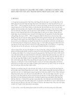 CUỘC ĐẤU TRANH CỦA HAI PHE CHỦ CHIẾN - CHỦ HÒA VÀ NHỮNG TÁC ĐỘNG ĐỐI VỚI CUỘC ĐẤU TRANH CHỐNG PHÁP XÂM LƯỢC (1858 – 1888)
