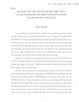 XÂY DỰNG THƯ VIỆN TRƯỜNG HỌC ĐẠT TIÊU CHUẨN CỦA QUYẾT ĐỊNH SỐ 01/2003/QĐ/BGD-ĐT NGÀY 02/01/2003  CỦA BỘ GIÁO DỤC VÀ ĐÀO TẠO