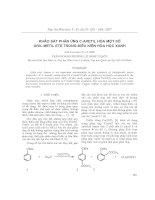 Khảo sát phản ứng c-axetil hóa một số aril metil ete trong điều kiện hóa học xanh