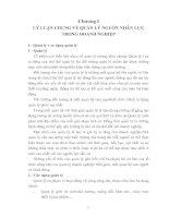 348 Thực trạng và giải pháp nhằm hoàn thiện quản lý nguồn nhân lực tại Công ty xi măng Nghi Sơn