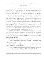 GIẢI PHÁP NÂNG CAO CHẤT LƯỢNG TÍN DỤNG TẠI SỞ GIAO DỊCH NGÂN HÀNG NÔNG NGHIỆP VÀ PHÁT TRIỂN NÔNG THÔN VIỆT NAM