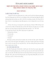 MỘT SỐ PHƯƠNG PHÁP NÂNG CAO HIỆU QUẢ DẠY HỌC PHÂN MÔN VẼ TRANG TRÍ