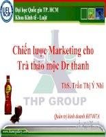 Chiến lược Marketing cho trà thảo mộc Dr Thanh