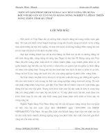 """MỘT SỐ GIẢI PHÁP NHẰM NÂNG CAO CHẤT LƯỢNG TÍN DỤNG  ĐỐI VỚI HỘ SẢN XUẤT Ở NGÂN HÀNG NÔNG NGHIỆP VÀ PHÁT TRIỂN  NÔNG THÔN TỈNH HÀ TĨNH"""""""