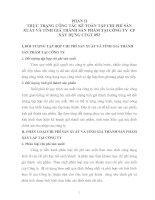 THỰC TRẠNG CÔNG TÁC KẾ TOÁN TẬP CHI PHÍ SẢN XUẤT VÀ TÍNH GIÁ THÀNH SẢN PHẨM TẠI CÔNG TY  CP XÂY DỰNG CTGT 892