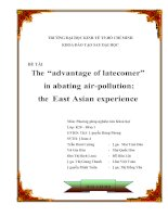 "The ""advantage of latecomer"" in abating air-pollution: the East Asian experience"