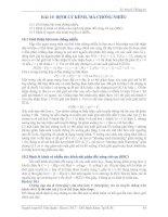 bài 10: định lý kênh, mã chống nhiễu