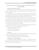 XÁC ĐỊNH PHƯƠNG PHÁP CHẾ TẠO PHÔI VÀ THIẾT KẾ BẢN VẼ CHI TIẾT LỒNG PHÔI