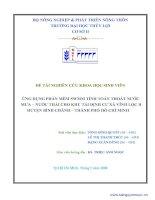 ỨNG DỤNG MÔ HÌNH SWMM TÍNH TIÊU THOÁT NƯỚC CHO KHU TÁI ĐỊNH CƯ XÃ VĨNH LỘC B – HUYỆN BÌNH CHÁNH – THÀNH PHỐ HỒ CHÍ MINH