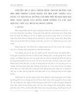 QUÁ TRÌNH HÌNH THÀNH ĐƯỜNG LỐI ĐỔI MỚI TRONG CÁCH MẠNG XÃ HỘI CHỦ NGHĨA CỦA ĐẢNG VÀ NỘI DUNG ĐƯỜNG LỐI ĐỔI MỚI DO ĐẠI HỘI ĐẠI BIỂU TOÀN QUỐC CỦA ĐẢNG KHỞI XƯỚNG VÀ CÁC ĐẠI HỘI SAU TIẾP TỤC BỔ SUNG HOÀN CHỈNH.