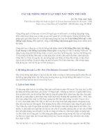 CÁC HỆ THỐNG PHÁP LUẬT HIỆN NAY TRÊN THẾ GIỚI