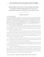 MỘT SỐ BIỆN PHÁP QUẢN LÍ HOẠT ĐỘNG DẠY HỌC  CỦA HIỆU TRƯỞNG NHẰM ĐÁP ỨNG YÊU CẦU  ĐỔI MỚI GIÁO DỤC Ở TRƯỜNG TRUNG HỌC CƠ SỞ