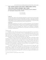 hệ thống đánh giá phát triển bền vững các khu công nghiệp Việt Nam