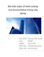 Bài tiểu luận về kính cường của Eurowindow trong xây dựng
