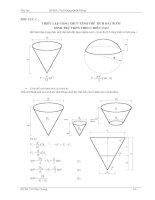 thiết lập công thức thể tích đài nước trụ tròn theo chiều cao