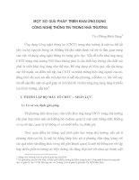 MỘT SỐ GIẢI PHÁP TRI Ể N KHAI   ỨNG DỤNG  CÔNG NGHỆ THÔNG TIN  TRONG  NHÀ TRƯ ỜNG