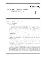 Chuong I - ĐẶC ĐIỂM CỦA CÔNG TRÌNH  CRESCENT 3.1 – A