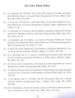 Một phương pháp proximal điểm trong cho bài toán cực tiểu lồi và cho bất đẳng thức biến phân 8