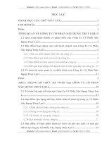 THỰC TRẠNG TỔ CHỨC KẾ TOÁN TẠI CÔNG TY CỔ PHẦN XÂY DỰNG THUỶ LỢI I.16