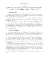 MỘT SỐ BIỆN PHÁP NÂNG CAO CHẤT LƯỢNG HOẠT ĐỘNG LÀM QUEN CHỮ VIẾT CHO TRẺ MẪU GIÁO 5 TUỔI