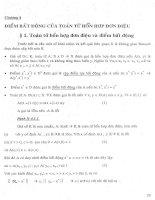 Nghiệm Dương của một số lớp  phương trình Toán tử7