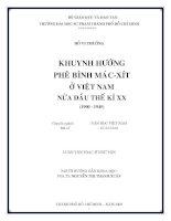 Khuyng hướng phê bình Mac- xít ở Việt Nam nửa đầu thế kỷ XX