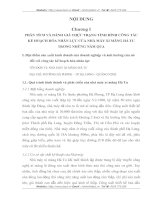 CÔNG TÁC KẾ HOẠCH HÓA NHÂN LỰC CỦA NHÀ MÁY XI MĂNG HÀ TU TRONG NHỮNG NĂM QUA