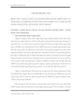 THỰC TRẠNG VÀ MỘT SỐ GIẢI PHÁP NHẰM HOÀN THIỆN CÔNG TÁC THẨM ĐỊNH TÀI CHÍNH DỰ ÁN ĐỐI VỚI DOANH NGHIỆP VỪA VÀ NHỎ TẠI CHI NHÁNH THÀNH CÔNG –NGÂN HÀNG VIETCOMBANK