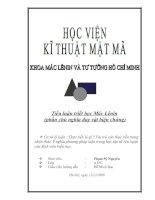 Tiểu luận triết học Mác Lênin  (phần chủ nghĩa duy vật biện chứng)