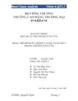 MÔ HÌNH RCA (ROOT CAUSE ANALYSIS ) TRONG CHUỖI CUNG ỨNG