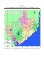 bảng đồ mạng lưới quan trắc chất lượng môi trường nước lưu vực sông Đồng Nai - sài Gòn