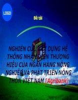 Xây dựng hệ thống nhận diện thương hiệu của ngân hàng nông nghiệp và phát triển nông thôn Việt Nam