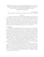 ĐÁNH GIÁ RỦI RO VÀ ĐỀ XUẤT BIỆN PHÁP THÍCH ỨNG VỚI THIÊN TAI TRONG BỐI CẢNH BIẾN ĐỔI KHÍ HẬU Ở HAI XÃ PHÚ LƯƠNG VÀ VINH HÀ, HUYỆN PHÚ VANG,  TỈNH THỪA THIÊN HUẾ